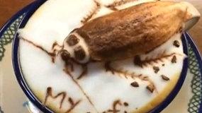 Tarakonas ant kavos puodelio: menininkė kuria įspūdingą 3D meną iš pieno putų