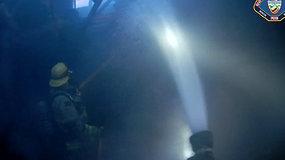 Gaisras iš arti: JAV ugniagesiai kovojo su liepsnomis