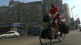 Į pasaulio futbolo čempionatą – dviračiu: egiptietis numins net 5 tūkst. kilometrų