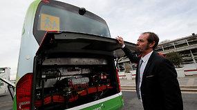 Pristatyta pirmoji pasaulyje elektrinių autobusų linija
