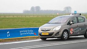 Grojantis kelias: Nyderlandų greitkelyje – melodiją skleidžiančios juostos