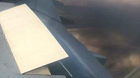 Keleiviai užfiksavo dar vieno lėktuvo variklio sprogimą – teko leistis avariniu būdu