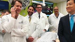 JAV kariui atlikta pirmoji pasaulyje varpos ir kapšelio transplantacija