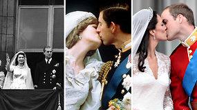 Prisiminkite: karališkųjų porų pasirodymai Bakingemo rūmų balkone, kurių laukdavo minios