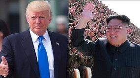 D.Trumpas Kim Jong Unui parodė veiksmo filmo anonsą primenantį vaizdo įrašą