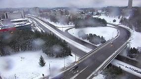 Dronai pradeda stebėti miesto priežiūrą žiemą