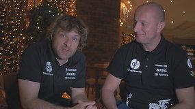 Suomijoje Benediktas Vanagas susitiko su nauju laikinu šturmanu Bartek Boba