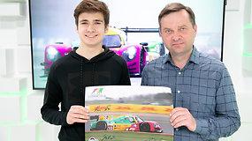 15min studijoje – jauniausias Le Mano serijos lenktynininkas Gustas Grinbergas