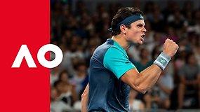 Milošo Raoničiaus neatremiami padavimai Australian Open turnyre