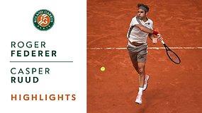 Rogeris Federeris prieš Casperą Ruudą. Dvikovos akimirkos