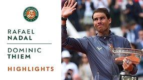 Rafaelis Nadalis prieš Dominicą Thiemą. Finalo akimirkos