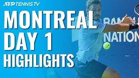 """Pirmosios ATP """"Rogers Cup"""" dienos apžvalga"""