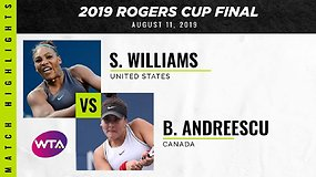 Serena Williams – Bianca Andreescu. Dvikovos akimirkos