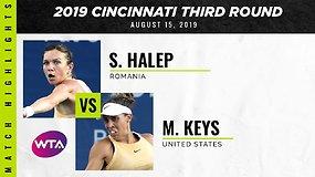 Simona Halep – Madison Keys. Gražiausi taškai
