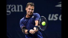 """""""US Open"""": Ričardas Berankis prieš Jiri Vesely"""
