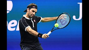 """""""US Open"""": Rogeris Federeris prieš Sumitą Nagalą"""