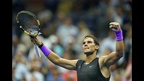 """""""US Open"""": Rafaelis Nadalis prieš Johną Millmaną"""