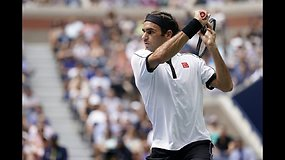 """US Open"": Rogeris Federeris prieš Davidą Goffiną"