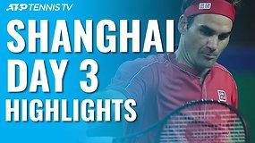 Trečioji ATP turnyro Šanchajuje diena: pergales iškovojo R.Federeris ir D.Medvedevas, bet ne A.Murray