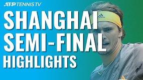 """ATP """"Masters"""" turnyro Šanchajuje pusfinaliuose – solidūs D.Medvedevo ir A.Zverevo pasirodymai"""