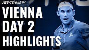 Antroji ATP turnyro Vienoje diena: šeimininkų džiaugsmas bei solidūs H.Chungo ir G.Simono pasirodymai