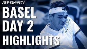 Antroji ATP turnyro Bazelyje diena: T.Fritzo sensacinga pergalė prieš A.Zverevą