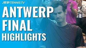 Teniso klasika Antverpene – Andy Murray finale palaužė Staną Wawrinką