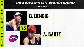 WTA finalai: Ashleigh Barty prieš Belindą Benčič
