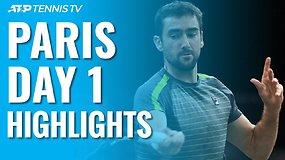 """Pirmosios ATP """"Masters"""" turnyro Paryžiuje dienos apžvalga"""