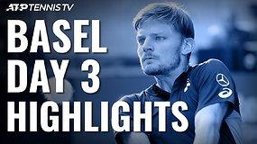 Trečiosios ATP turnyro Bazelyje dienos apžvalga