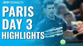 Trečiosios ATP turnyro Paryžiuje dienos apžvalga
