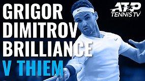 """Grigoro Dimitrovo magija prieš Dominicą Thiemą """"Rolex Paris Masters"""" aštuntfinalyje"""