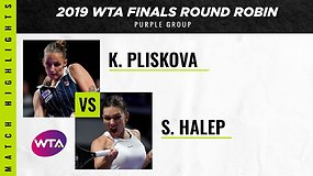 WTA finalai: Karolina Pliskova prieš Simoną Halep