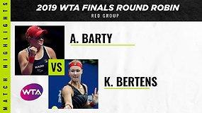WTA finalai: Ashleigh Barty prieš Kiki Bertens