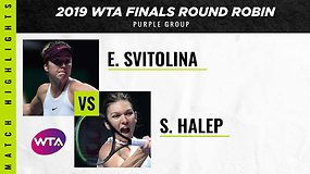 WTA finalai: Elina Svitolina prieš Simoną Halep