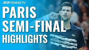 """ATP """"Masters"""" turnyro Paryžiuje pusfinalių apžvalga"""