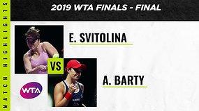 WTA baigiamojo turnyro finalas: Ashleigh Barty – Elina Svitolina
