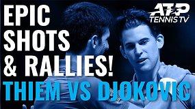 Kvapą gniaužiantys Dominico Thiemo ir Novako Džokovičiaus taškai Nitto ATP Finals turnyre