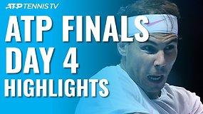"""Ketvirtosios """"Nitto ATP Finals"""" dienos apžvalga: R.Nadalio sugrįžimas ir S.Tsitsipo užtikrintumas"""