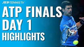 """Pirmosios """"Nitto ATP Finals"""" dienos apžvalga: N.Džokovičiaus dominavims ir D.Thiemo sensacija"""