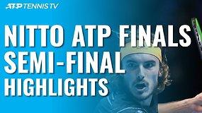 """""""Nitto ATP Finals"""" pusfinalių apžvalga: dėl trofėjaus kausis S.Tsitsipas ir D.Thiemas"""