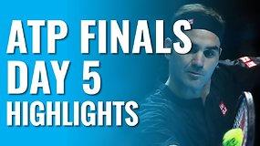 """Penktos """"Nitto ATP Finals"""" dienos apžvalga: R.Federeris eliminavo N.Džokovičių, M.Berrettinis finišavo pergalingai"""