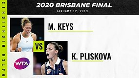"""Brisbane International"" finalas: Madison Keys – Karolina Pliškova. Dvikovos akimirkos"