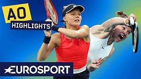 """""""Australian Open: Simona Halep – Harriet Dart. Dvikovos akimirkos"""