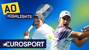 """Australian Open: Dominicas Thiemas – Alexas Boltas. Dvikovos akimirkos"