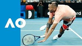 """""""Australian Open: Nickas Kyrgiosas penkių setų maratone palaužė Kareną Chačanovą"""