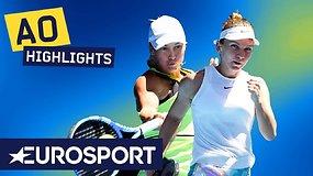 """""""Australian Open: Simona Halep – Julija Putintseva. Dvikovos akimirkos"""