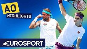 """""""Australian Open ketvirtfinalis: Rogeris Federeris išgyveno dar vieną penkių setų trilerį"""