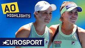 """""""Australian Open"""" pusfinalis: Sofia Kenin sudaužė šeimininkų viltis įveikdama Ashleigh Barty"""