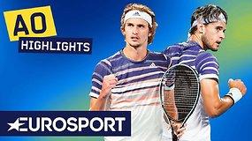 """Australian Open"" pusfinalis: Alexanderis Zverevas – Dominicas Thiemas"